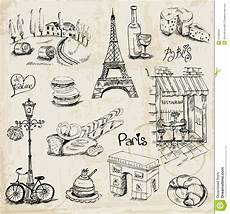Paris Designs Paris Illustration Set Stock Vector Illustration Of Glass