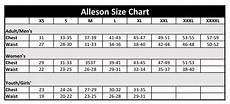 Abby And Size Chart Size Chart Alleson