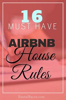 Rental House Rules Template 17 Critical Airbnb House Rules Examples 2020