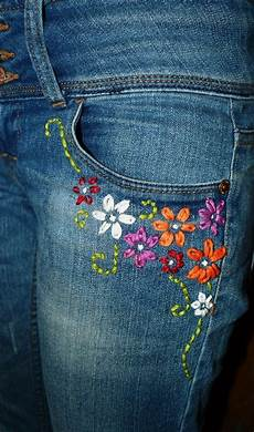 embroidery denim embroidery for simple craft ideas