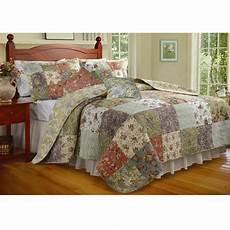 new patchwork floral king size quilt set bedroom bedding