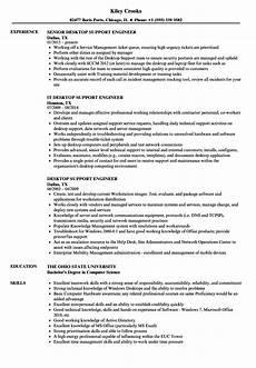 Resume Of Desktop Support Engineer Desktop Support Engineer Resume Samples Velvet Jobs