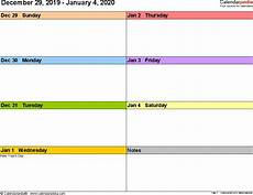 free weekly calendar template 2020 weekly calendars 2020 for word 12 free printable templates