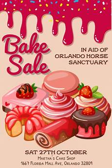 Bake Sale Poster Templates Free Bake Sale Poster Template Postermywall