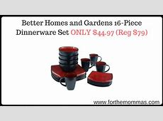 Better Homes and Gardens 16 Piece Dinnerware Set ONLY $44