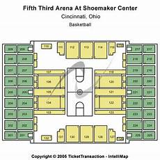 Uc Bearcats Basketball Seating Chart Fifth Third Arena Seating Charts