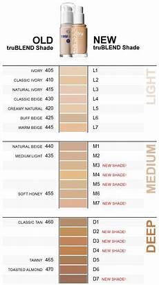 Maybelline Better Skin Foundation Colour Chart Navigating The New Covergirl Trublend Shade System
