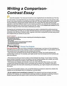 Example Of Compare And Contrast Essay Topics Comparing And Contrast Essay Example Writing Prompts For