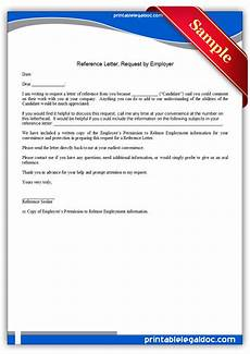 Form Of Reference Letter Free Printable Reference Letter Request By Employer Form