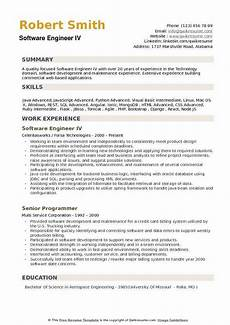 Resume Format Experienced Software Engineer Software Engineer Resume Samples Qwikresume