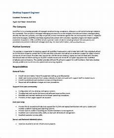 Resume Of Desktop Support Engineer Free 9 Sample Engineer Resume Templates In Ms Word Pdf