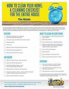 Cleaning Checklist By Room How To Clean Your Entire House A Cleaning Checklist By