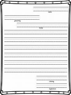 Letter Writing Paper Template Friendly Letter Writing Paper By Second Grade Wonder Tpt