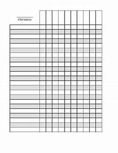 Attendance Sheets Printable Blank Attendance Sheet By Crafty Aquarius Design Tpt