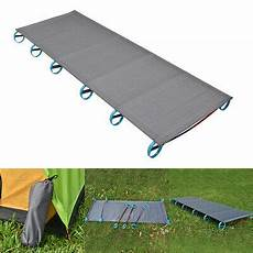 single sturdy outdoor cing portable folding bed