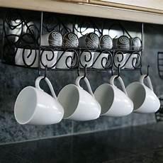 mesa scroll the cabinet coffee pod and mug organizer