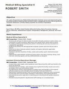 Medical Billing Specialist Resume Medical Billing Specialist Resume Samples Qwikresume