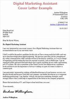 Cover Letter Examples Marketing Digital Marketing Assistant Cover Letter Without Experience