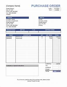 Po Templates Purchase Order Template