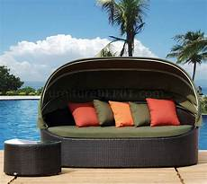 black modern outdoor lounge sofa w canopy side table