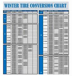 Tire Rack Size Chart 9 Tire Conversion Chart Templates Sample Templates