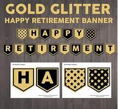 Happy Retirement Banner Printable Printable Happy Retirement Banner In Gold