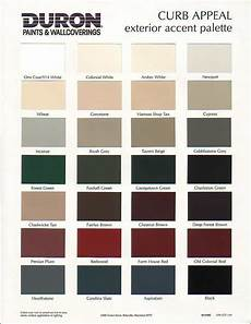 Exterior Color Chart Duron Curb Appeal Exterior Accent Palette Sample Color