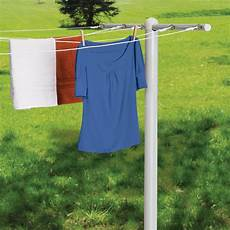 outdoor clothes drying line t post for 5 line outdoor clothes drying white
