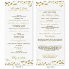 Program Word Template Wedding Program Template Download Instantly Edit