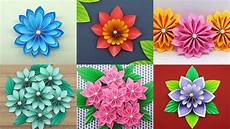 best 6 easy paper flowers tutorial diy paper flower
