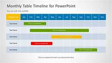 Sample Timelines In Powerpoint Table Timeline Template For Powerpoint Slidemodel
