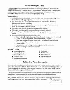 Character Sketch Essay Example Character Analysis Essay