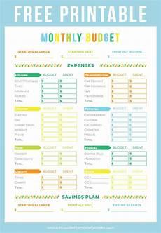 Free Online Budget Planner Free Printable Budget Sheet Printable Crush Budget