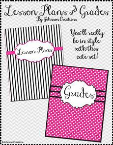 Gradebook Cover Johnson Creations Modern Lesson Plans Book Amp Grade Book
