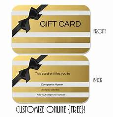 Gift Card Samples Free Gift Card Template