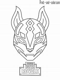 Fortnite Malvorlagen Free Fortnite Battle Royale Coloring Page Drif Mask Christine