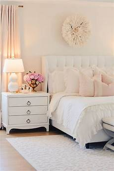 white master bedroom blush decorative pillows