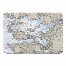 Chart House Narragansett Ri Narragansett Bay Ri Nautical Chart Memory Foam Bath