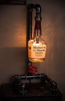 Diy Liquor Bottle Lights Like This Cool Industrial Liquor Bottle Lamp Now