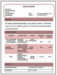 Attractive Resume Format For Freshers Attractive Resume Format For Freshers Resume Format For