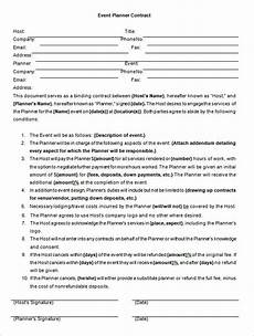 Event Planner Agreement Event Contract Template 14 Free Word Excel Pdf