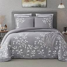 autumn 100 cotton 3 bedding set in grey bed bath