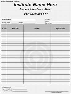 Attendance Sheet Format School Attendance List Templates 10 Free Word Excel Amp Pdf