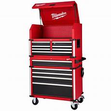 milwaukee high capacity 36 in 12 drawer tool chest and