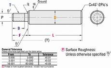 Tamiya Bearing Size Chart One Threaded Endprecision Linear Shaft Inch Misumi