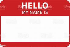 Design My Name Online Free Hello My Name Is Introduction Red Flat Label Stock