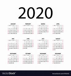 images for calendar 2020 calendar for 2020 royalty free vector image vectorstock