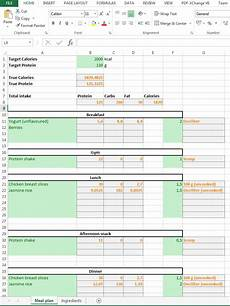 Excel Nutrition How To Track Your Diet With Excel Antti Lehikoinen