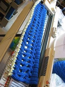 machine knitting my new cap
