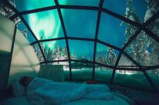 Northern Lights Glass Sleep Under The Northern Lights In Glass Igloos Simplemost